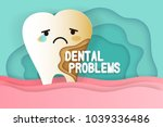 tooth with decay problems on he ... | Shutterstock .eps vector #1039336486