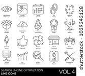 seo   web line icons. retina... | Shutterstock .eps vector #1039343128