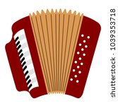 isolated accordion icon.... | Shutterstock .eps vector #1039353718
