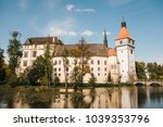 castle blatna with lake in the... | Shutterstock . vector #1039353796