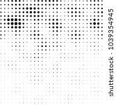 grunge halftone black and white ... | Shutterstock .eps vector #1039354945