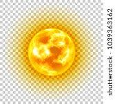 sun  transparent background ... | Shutterstock .eps vector #1039363162