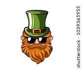 saint patrick s day greeting... | Shutterstock .eps vector #1039365955