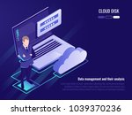 concept of cloud disk and data... | Shutterstock .eps vector #1039370236