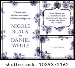invitation with floral... | Shutterstock . vector #1039372162