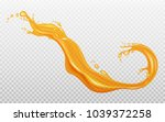 transparent orange liquid... | Shutterstock .eps vector #1039372258