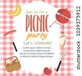 picnic party invitation card....   Shutterstock .eps vector #1039375912