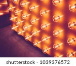 light bulbs in row event party...   Shutterstock . vector #1039376572
