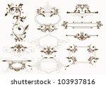 filigree calligraphic vintage... | Shutterstock .eps vector #103937816
