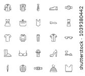 clothing outline icons set.... | Shutterstock .eps vector #1039380442
