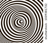 optical illusion  black and... | Shutterstock .eps vector #1039381732
