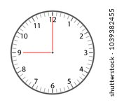 simple clock face vector | Shutterstock .eps vector #1039382455