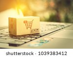online shopping and ecommerce... | Shutterstock . vector #1039383412