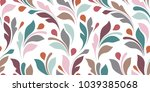 floral seamless texture for... | Shutterstock .eps vector #1039385068