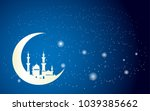 background of beautiful mosque... | Shutterstock .eps vector #1039385662