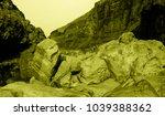 martian landscape of the lost... | Shutterstock . vector #1039388362