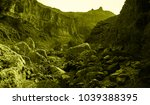 martian landscape of the lost... | Shutterstock . vector #1039388395