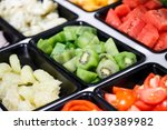 fresh vegetables and fruits... | Shutterstock . vector #1039389982