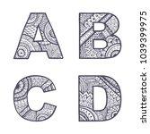 Cute Hand Drawn Font. Vector...