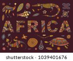 the inscription of africa and... | Shutterstock .eps vector #1039401676