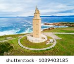 tower of hercules or torre de... | Shutterstock . vector #1039403185