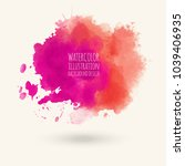 abstract bright pink watercolor ... | Shutterstock .eps vector #1039406935