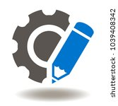 pencil cogwheel icon vector.... | Shutterstock .eps vector #1039408342