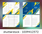 set speed action theme brochure ... | Shutterstock .eps vector #1039412572