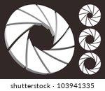 set of aperture logo. | Shutterstock .eps vector #103941335
