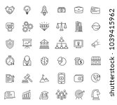 set of strat up icon with thin... | Shutterstock .eps vector #1039415962