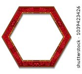 frame ruby color with shadow on ... | Shutterstock .eps vector #1039423426