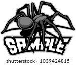 Black Spider Cartoon Mascot...