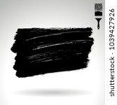 black brush stroke and texture. ... | Shutterstock .eps vector #1039427926