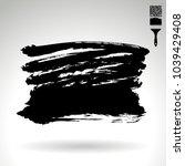 black brush stroke and texture. ... | Shutterstock .eps vector #1039429408