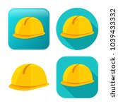 safety helmet icon  ... | Shutterstock .eps vector #1039433332
