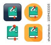 organizer planner book icon  ... | Shutterstock .eps vector #1039433335