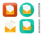 mail icon   vector send email   ... | Shutterstock .eps vector #1039433338