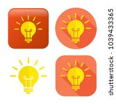 lightbulb icon   vector light... | Shutterstock .eps vector #1039433365