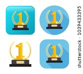 winner icon   gold prize  ... | Shutterstock .eps vector #1039433395