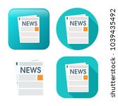 newspaper icon   daily... | Shutterstock .eps vector #1039435492