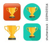 gold cup trophy icon   cup... | Shutterstock .eps vector #1039435516