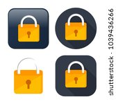 lock icon   vector padlock  ... | Shutterstock .eps vector #1039436266