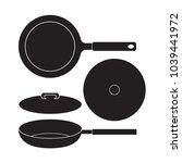 frying pan icon vector... | Shutterstock .eps vector #1039441972