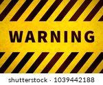warning plate  old danger sign... | Shutterstock .eps vector #1039442188