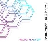 hexagonal geometric background. ... | Shutterstock .eps vector #1039444798