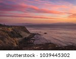 colorful coastal view of tall... | Shutterstock . vector #1039445302