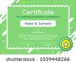 kids diploma certificate in...   Shutterstock .eps vector #1039448266