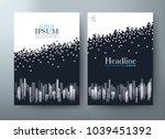 flyer design  leaflet cover... | Shutterstock .eps vector #1039451392