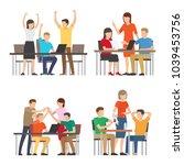 start up people at work set ... | Shutterstock .eps vector #1039453756