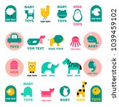 vector set of stylized... | Shutterstock .eps vector #1039459102